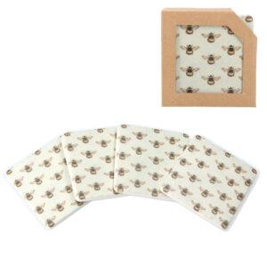 Gisela Graham Bee Coaster Pack
