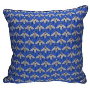 Gisela Graham Blue Bee Pillow