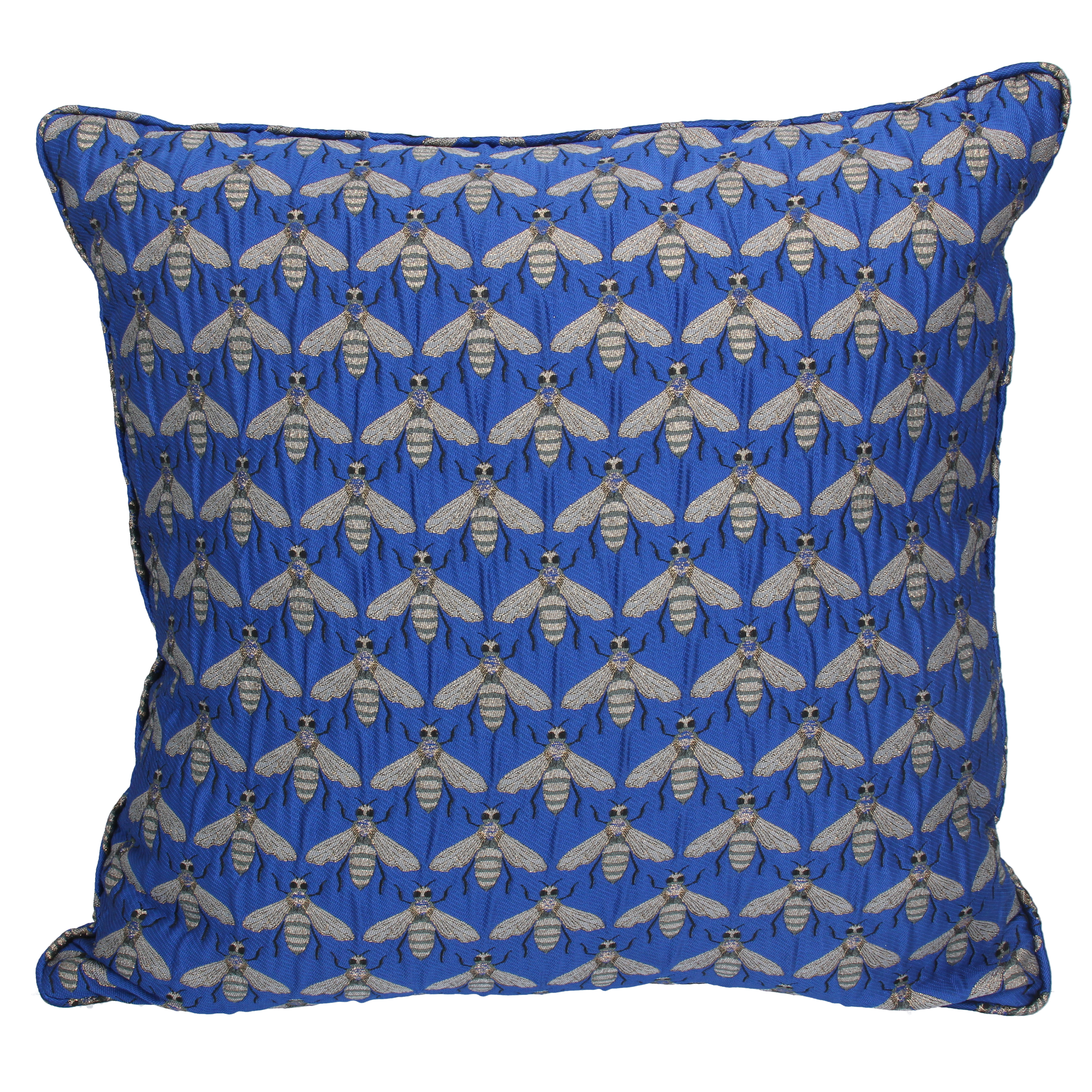 Gisela Graham Blue Bee Pillow
