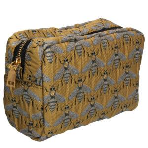 Gisela Graham Gold Bee Cosmetic Bag