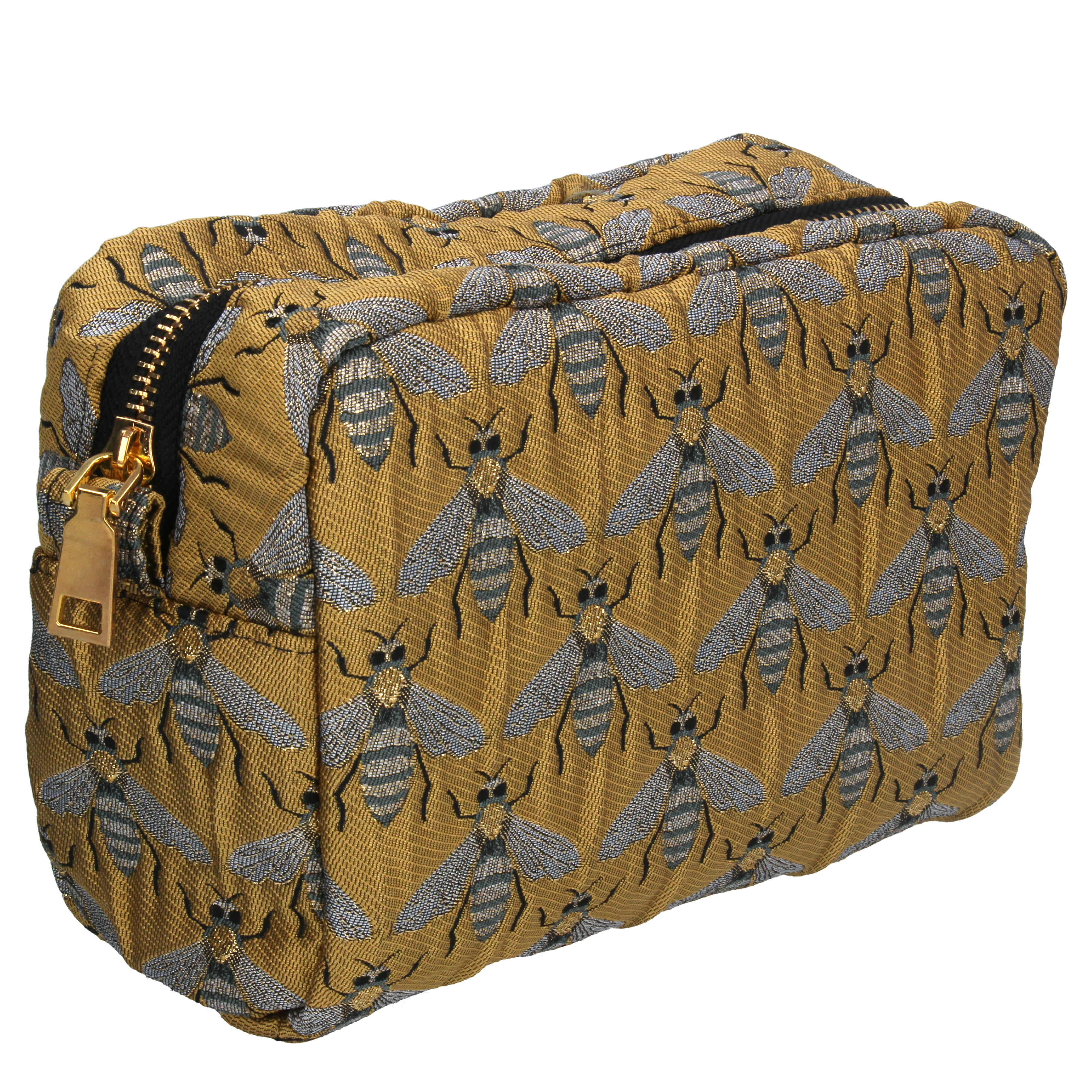Gisela Graham Gold Bee Cosmetic Bag