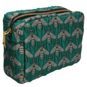 Gisela Graham Green Bee Cosmetic Bag