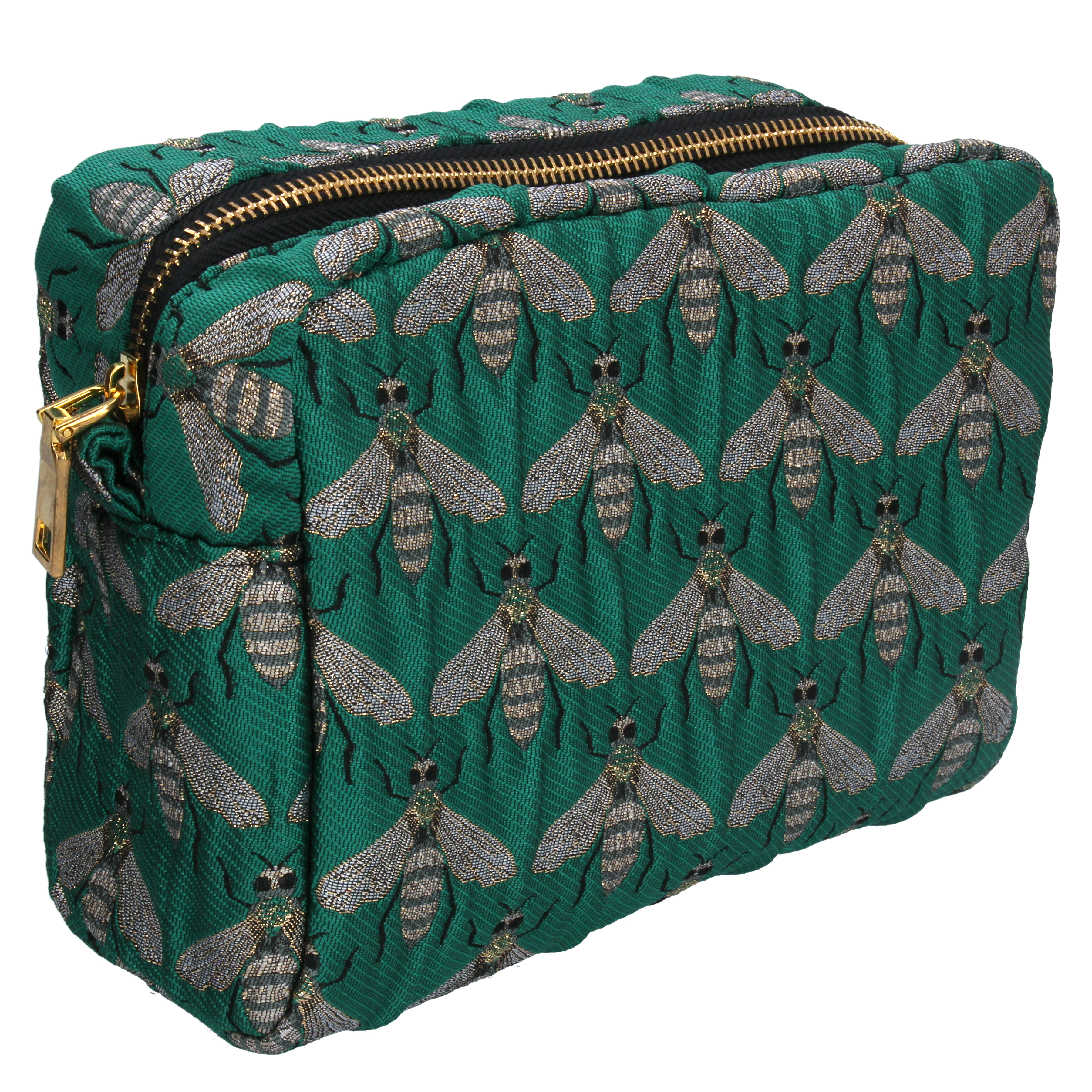 Gisela Graham Green Bee Cosmetic Bag
