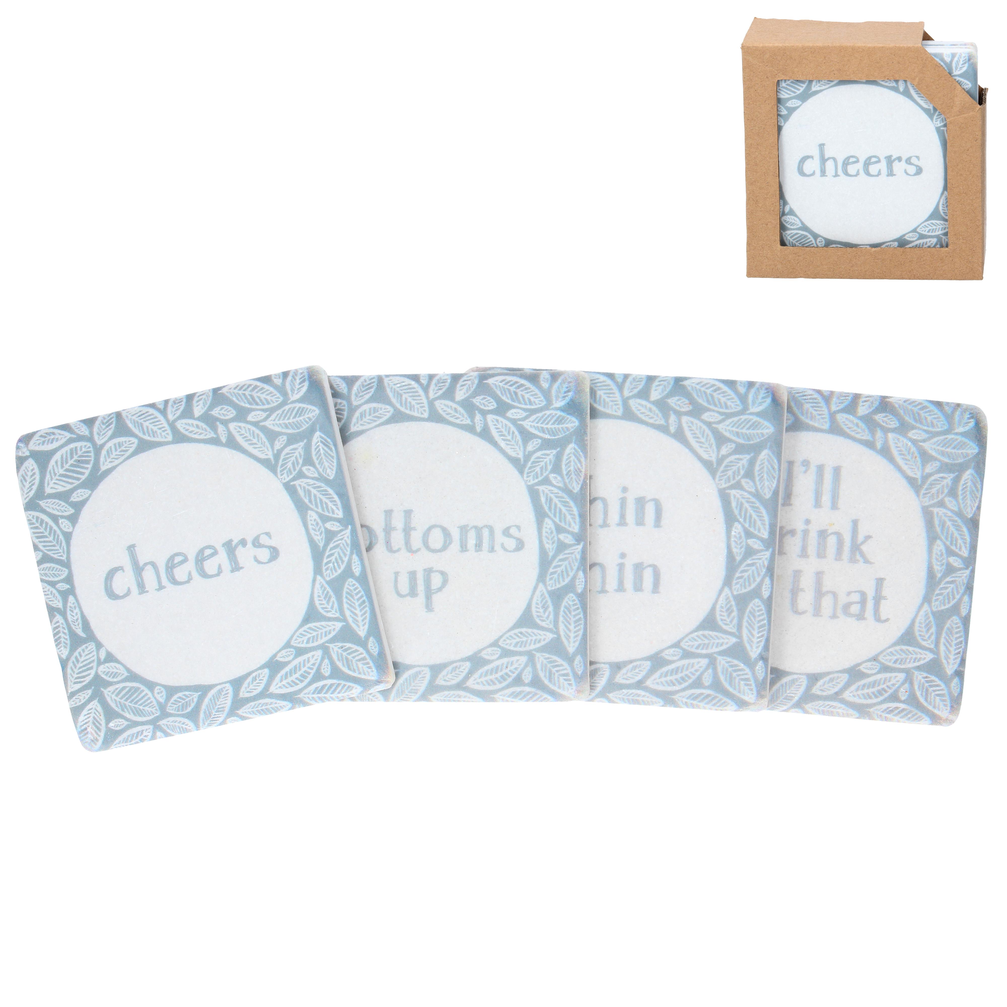 Gisela Graham 'Cheers' Coaster Set