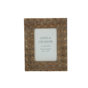 "Gisela Graham Gold Photo Frame 2.5"" x 3.5"""