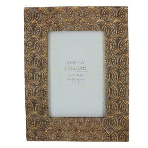 "Gisela Graham Gold Photo Frame 4"" x 6"""