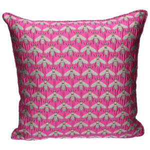 Gisela Graham Pink Bee Pillow