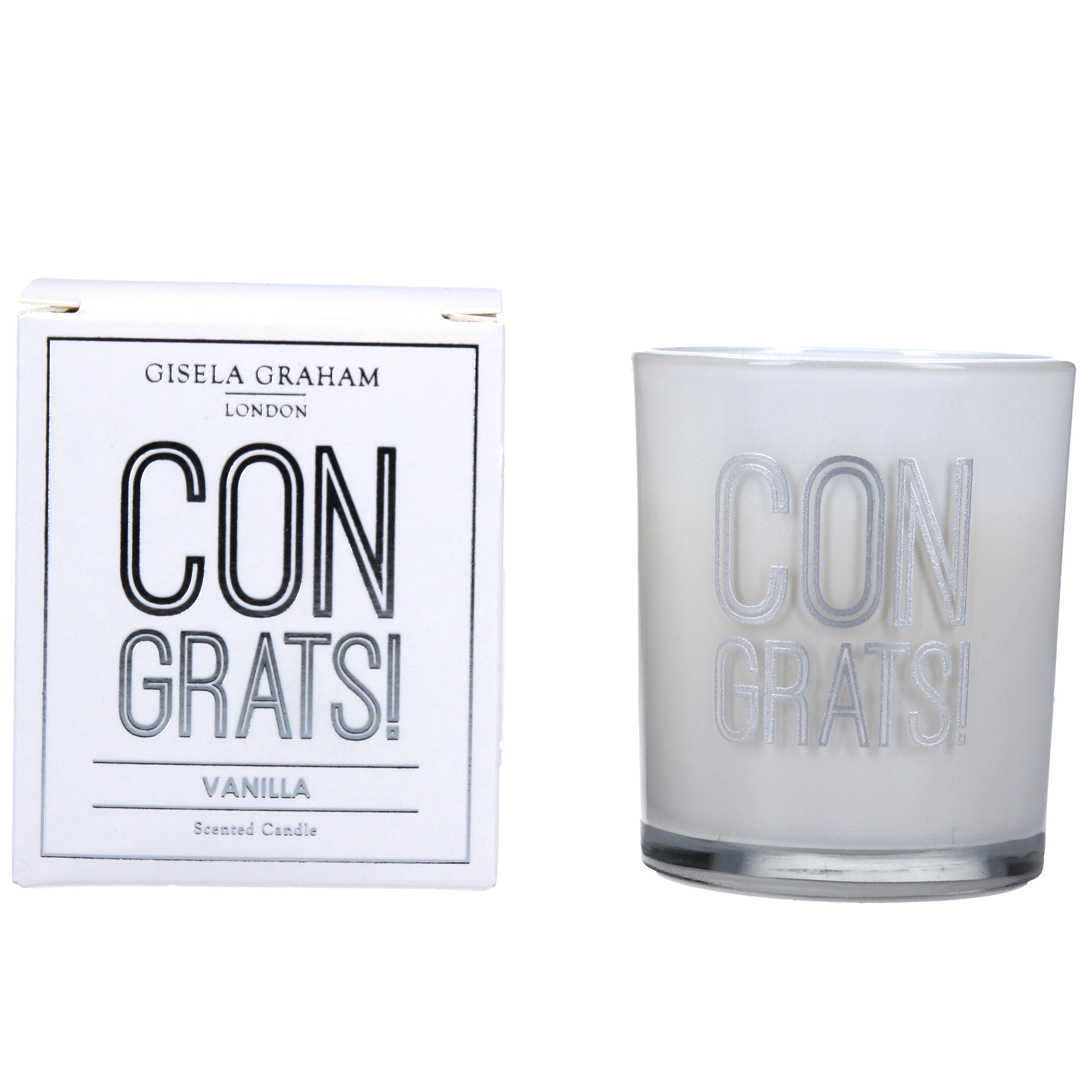 Gisela Graham 'Congrats!' Candle