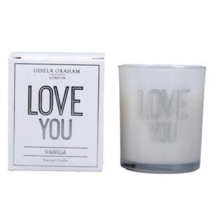 Gisela Graham 'Love You' Candle