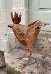 Adobe Rustic Regal Queen Chicken Garden Ornament 35.5x16x48cm