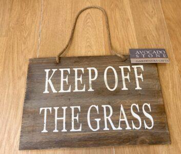 Avocado Garden Sign 'Keep off the Grass'