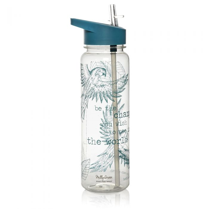 Milly Green Rainforest Clear Water Bottle