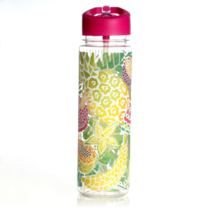 Milly Green Tropical Fruit Clear Water Bottle