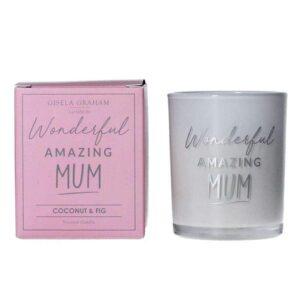 Gisela Graham 'Wonderful Amazing Mum' Candle