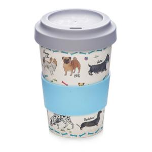 Milly Green Debonair Dogs Travel Mug Eco Bamboo Fibre 17oz