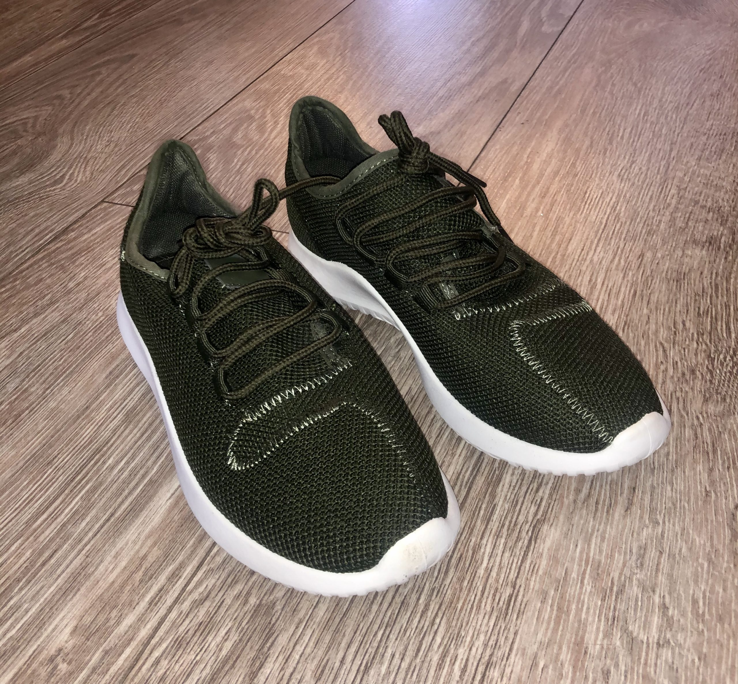 khaki green fabric Trainer