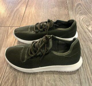 khaki green fabric Trainer