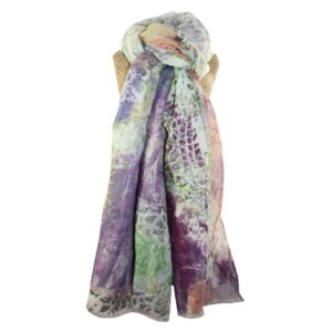 Lua Abstract Lace Print Scarf