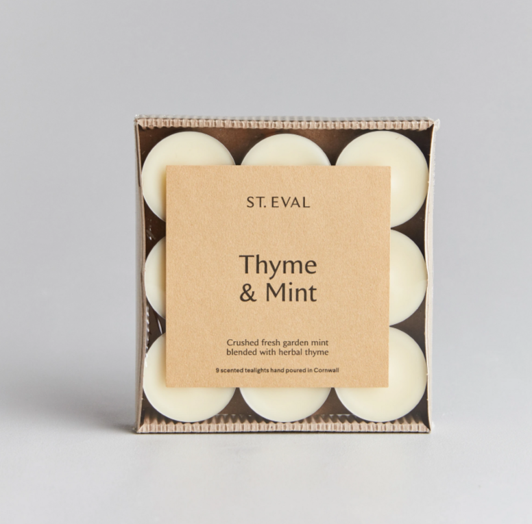 St Eval Thyme & Mint Tealights