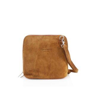 Vera Pelle Tan Suede Shoulder Bag