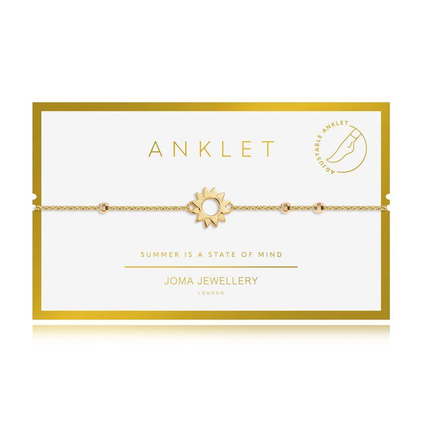Joma Jewellery Anklet Gold Sun
