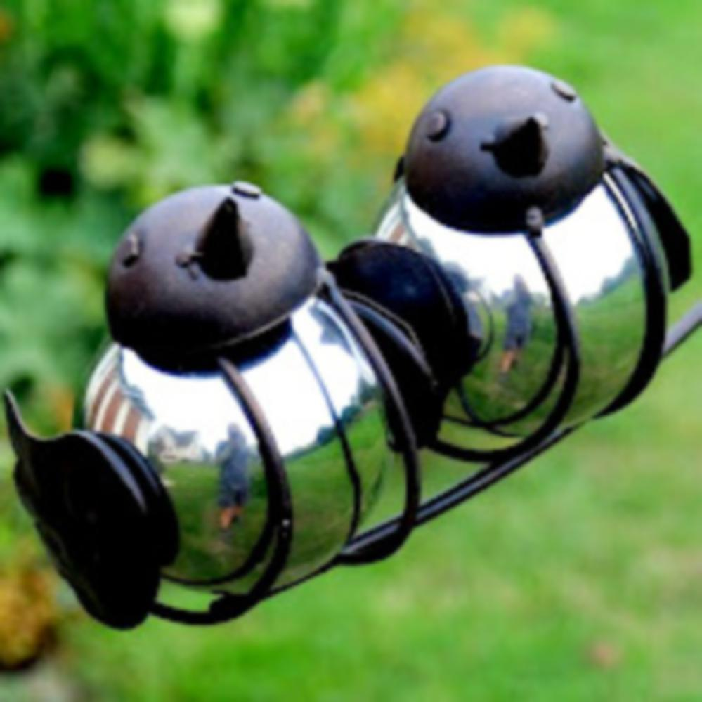 Adobe Balancing Birds Garden Stake