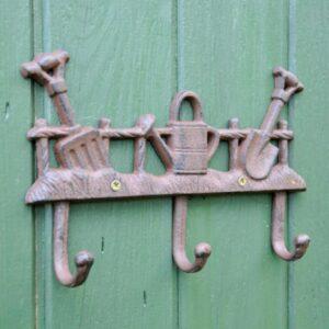 Adobe Cast Iron Garden Coat Hook
