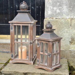Adobe Acorn Garden Lantern