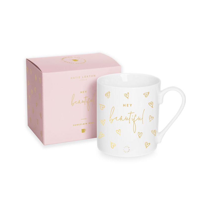 Katie Loxton Porcelain Mug 'Hey Beautiful'
