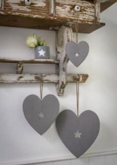 Retreat Grey Heart Hanger (Various Sizes)