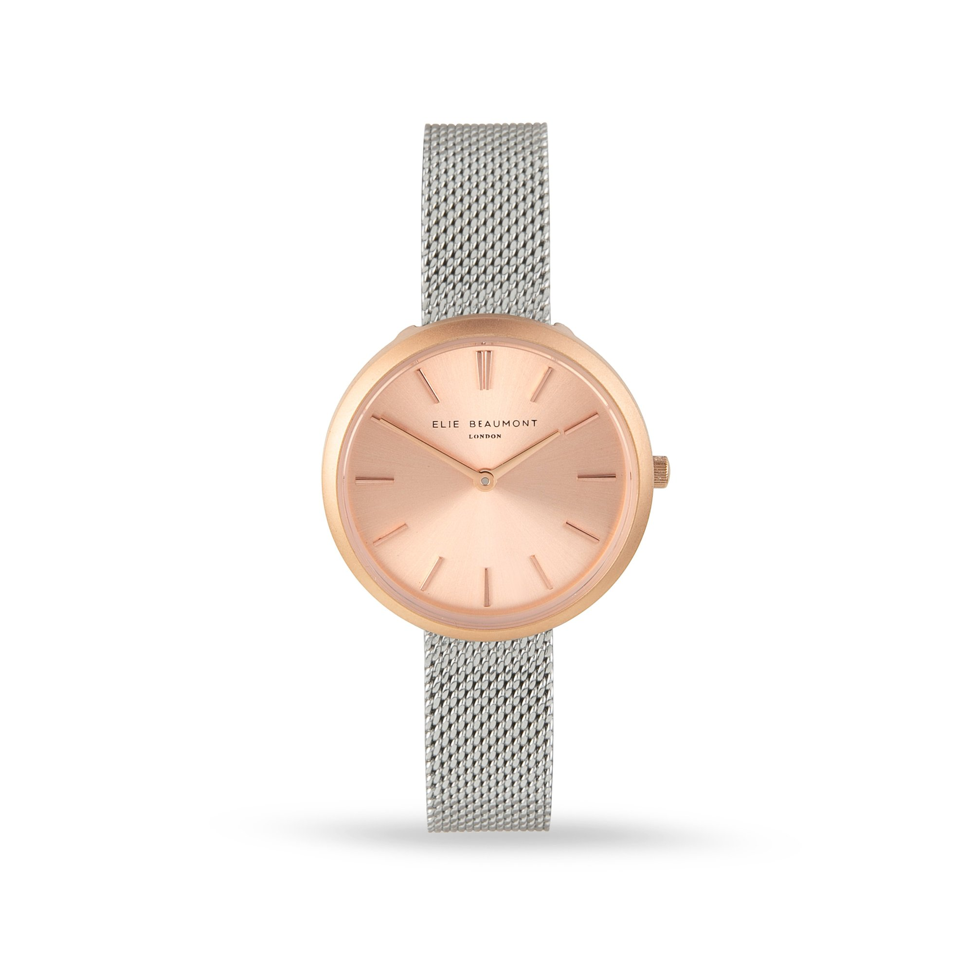 Elie Beaumont Marlow Silver Strap Small Face Mesh Watch