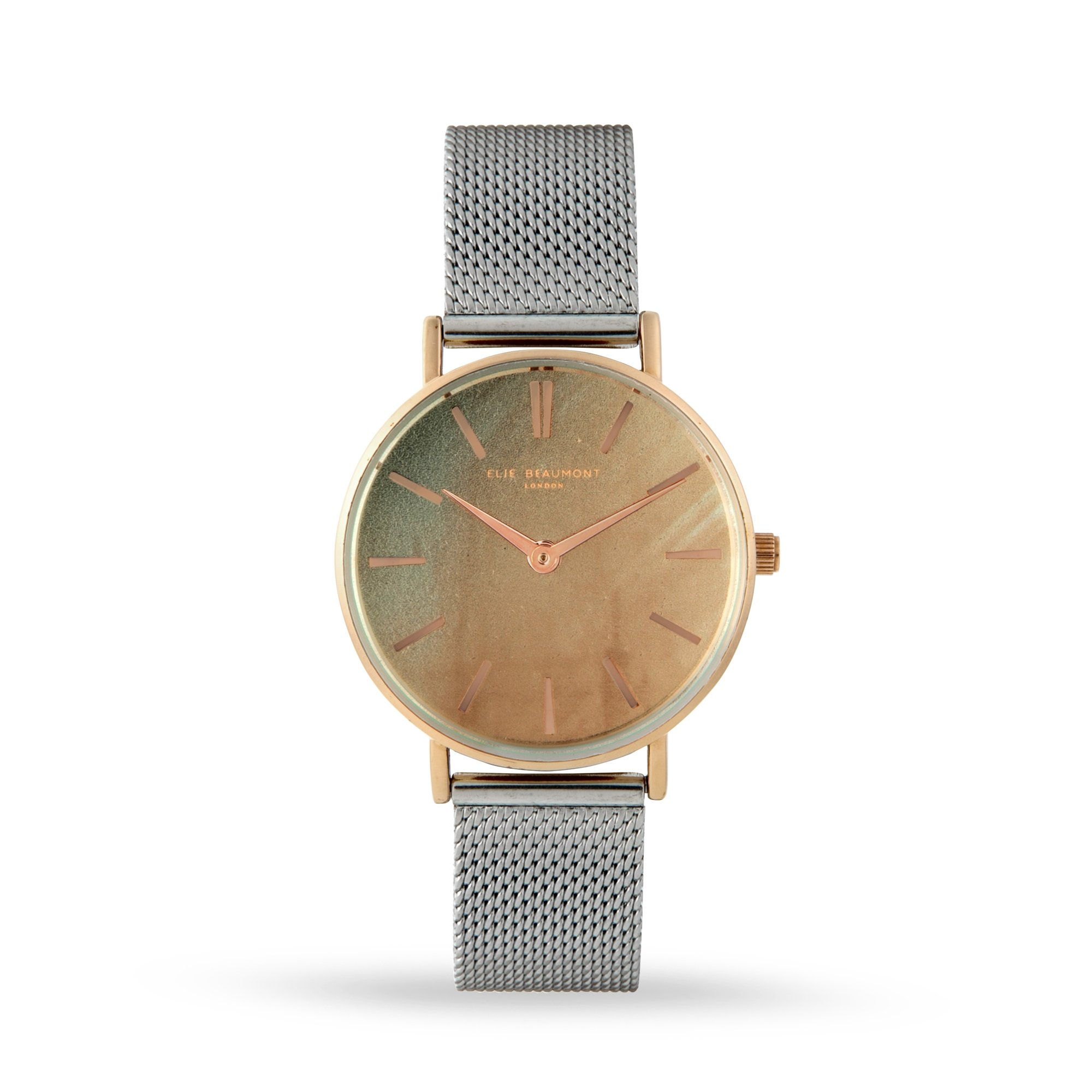 Elie Beaumont Shoreditch Champagne Mesh Watch