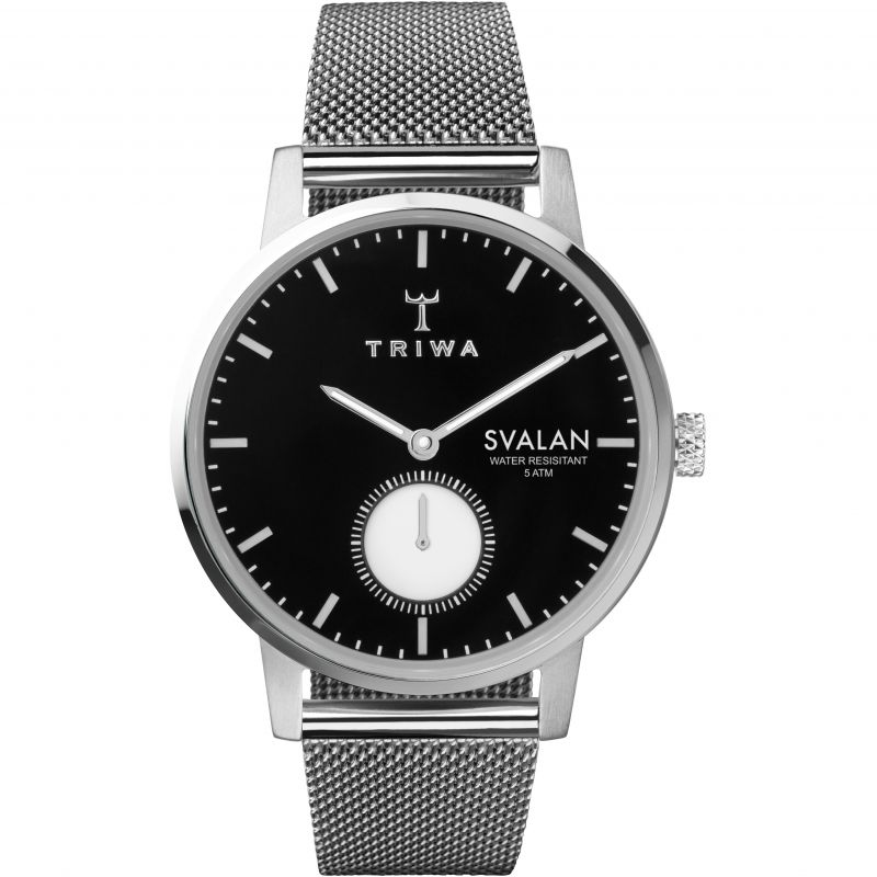 Triwa Ebony Svalan Steel Mesh Watch