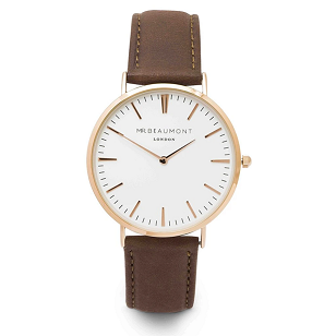 Mr Beaumont Brown Leather Watch