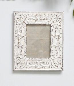 Retreat White Wood Distressed Frame