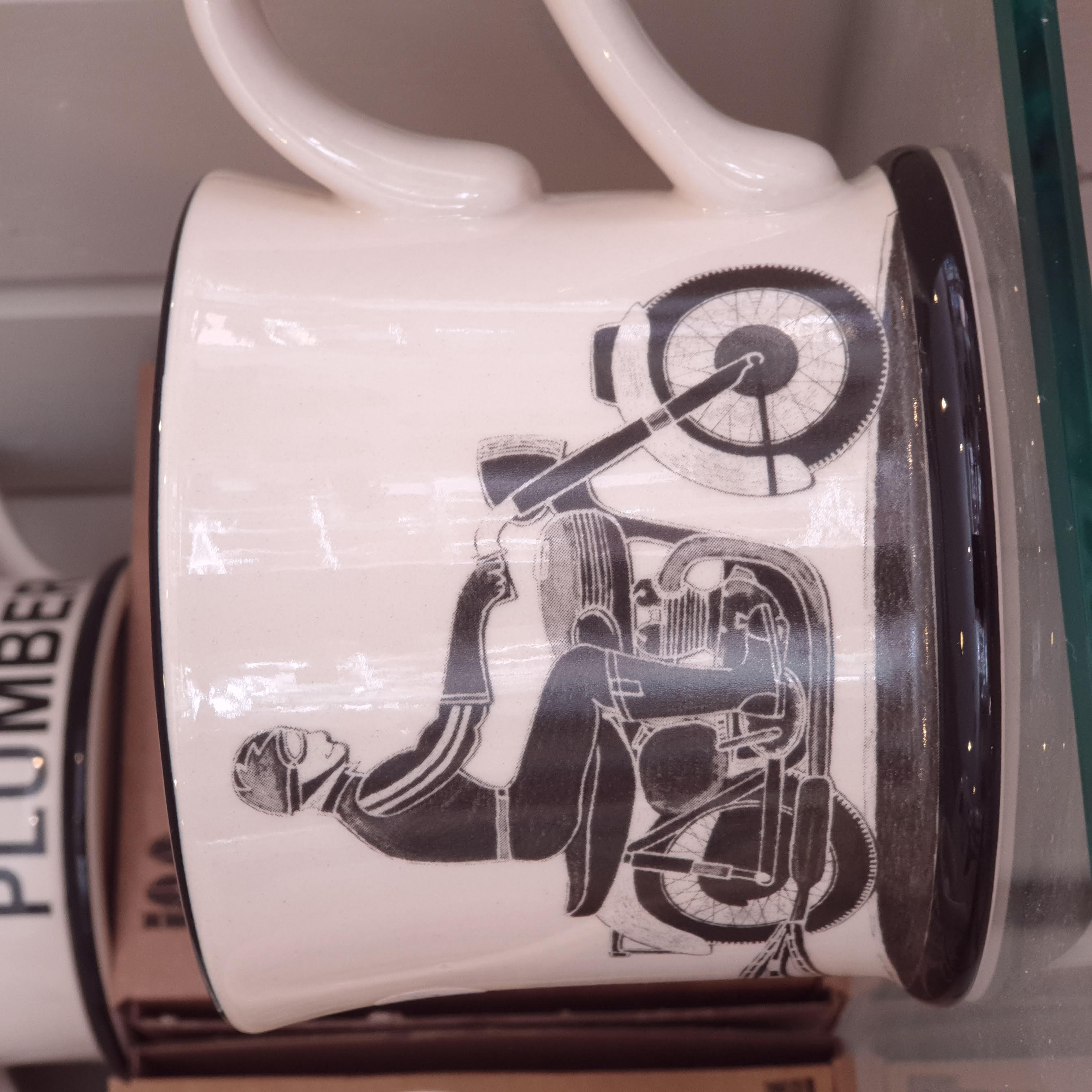 Moorland Pottery - 'Born to Ride' Motorcycle Mug