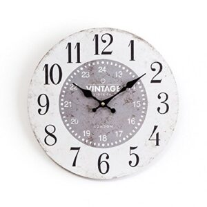 Chickidee Homeware Wooden Vintage Wall Clock