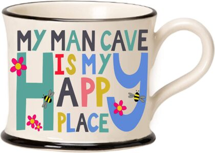 Moorland Pottery - My Man Cave is my Happy Place Mug