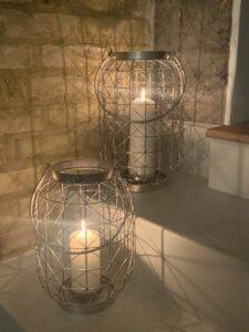 Home Deco London Hampton Open Nickel Lantern