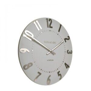 Thomas Kent Mulberry Silver Cloud Wall Clock