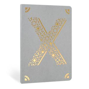 Portico Designs 'X' Foiled Notebook