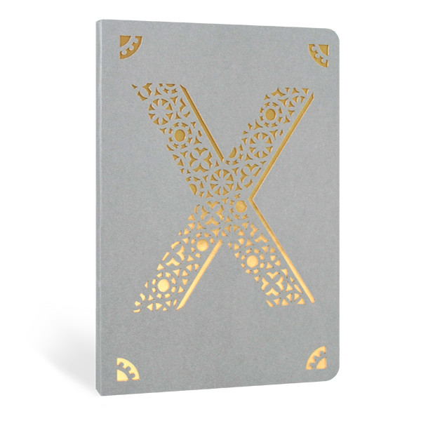 Portico Designs 'X' Foiled Notebook