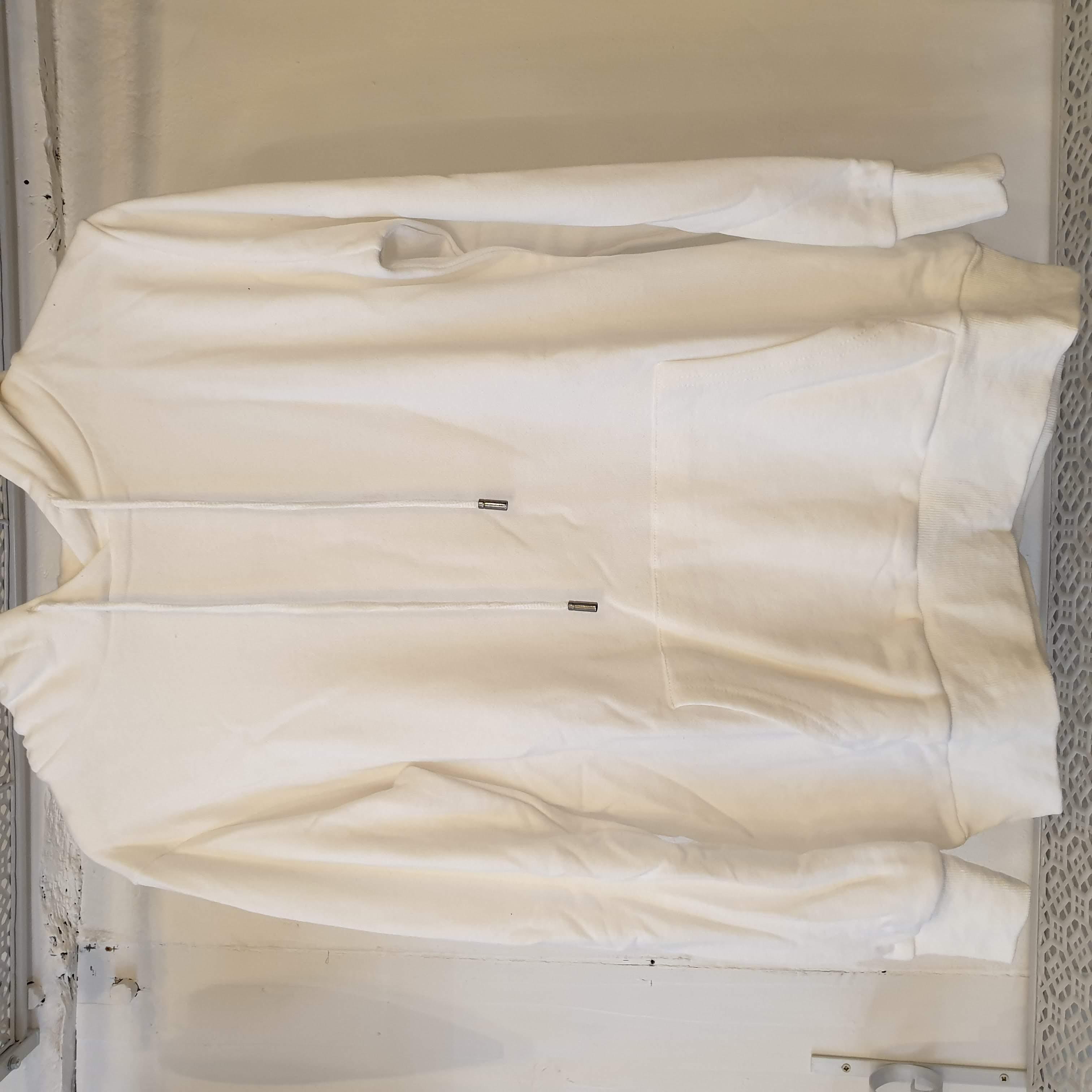 Moocci White Hooded Sweater Angel Wing Back