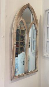 Adobe Gothic Wood Garden Mirror