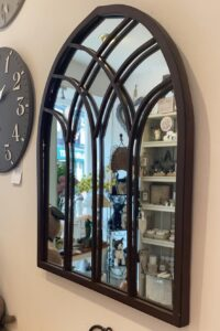 Outdoor metal Gothic style mirror