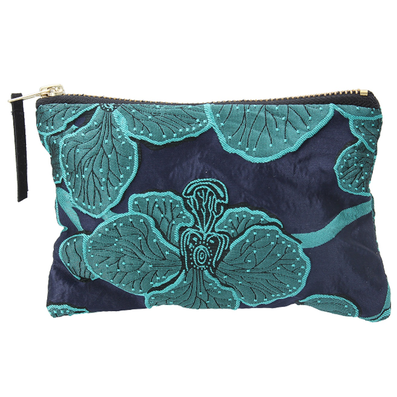 Gisela Graham Blue Flower Purse