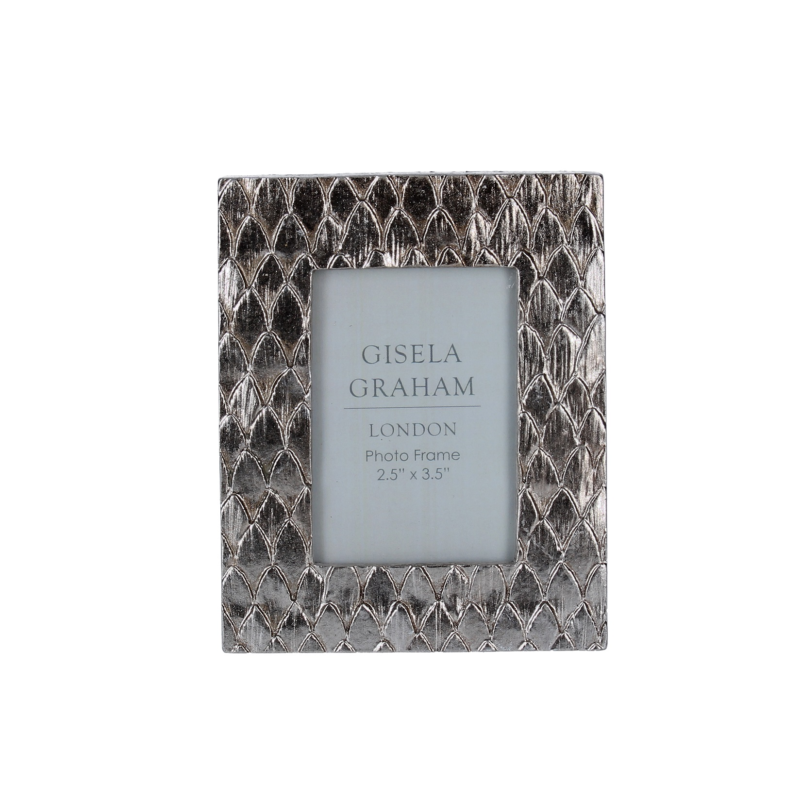 "Gisela Graham Silver Scale Frame 2.5"" x 3.5"""