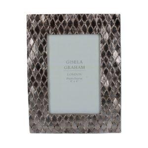 "Gisela Graham Silver Scale Frame 4"" x 6"""