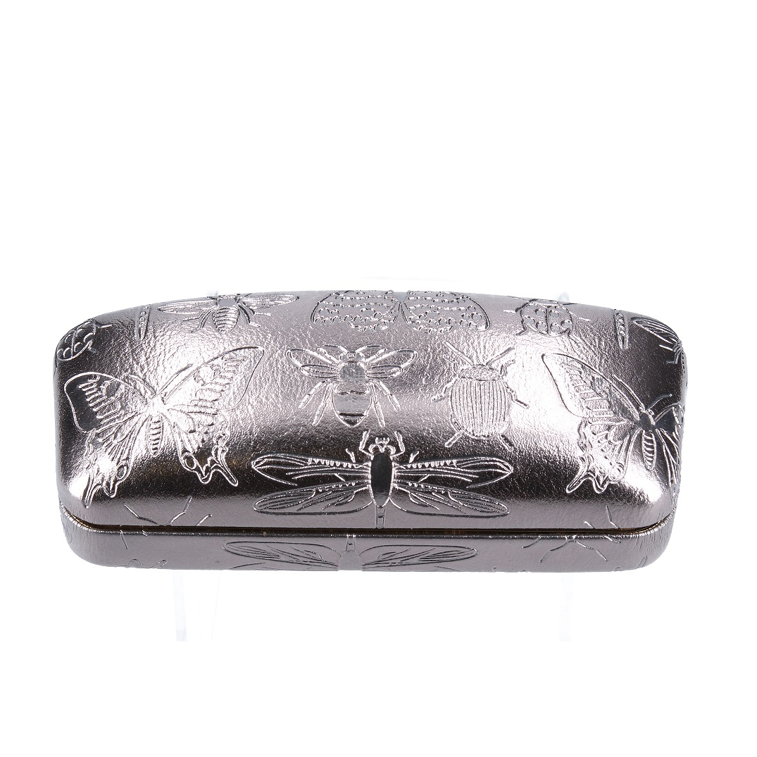 Gisela Graham Luxe Glasses Case Silver