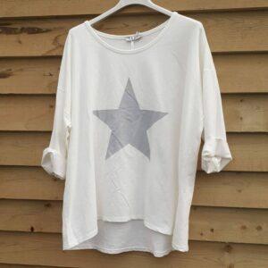 Studio White Star 3/4 Sleeve Top